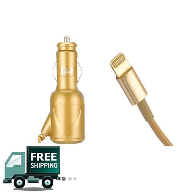 Car Charger 1A  For Apple iPhone 5 - Golden