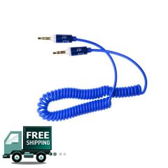 AUX To AUX Cable JD  Spring - Blue