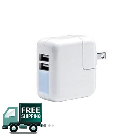 Adaptor Charger Dual USB - White