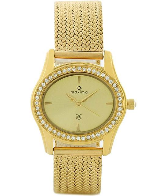 Maxima 29532Cmly Swarovski Gold Woman's Watch