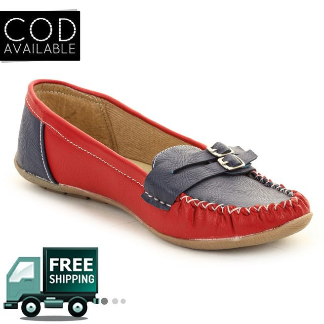 Red-Blue Women Loafer