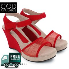 Red Women Wedges