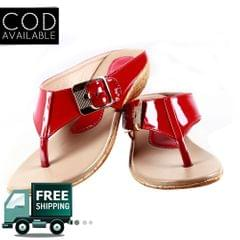 Red Women Casual Slippers