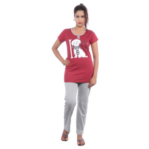 Happy Hours Single Jersey Women's Loungewear