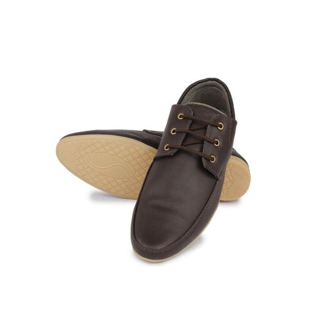 Senator Stylish Brown Synthetic Leather Shoes