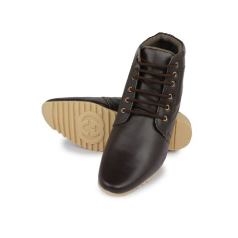 Senator Stylish Dark Brown Synthetic Leather Boot