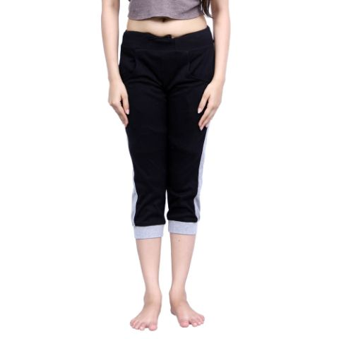 Happy Hours Pc Interlock Women's Capri