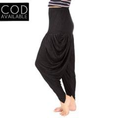 SLS Black Cotton Lycra Regular Fit Women's Dhoti