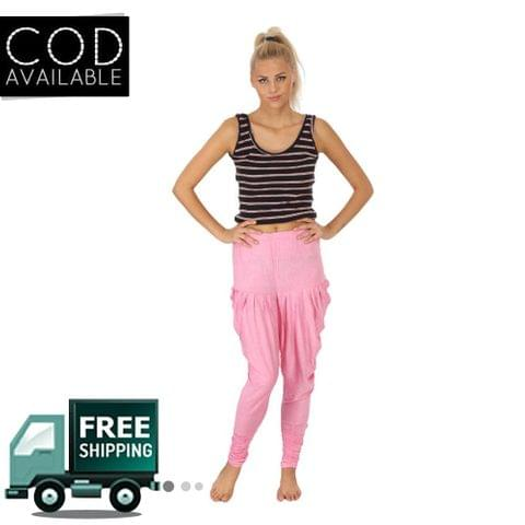 SLS Pink Cotton Lycra Regular Fit Women's Dhoti