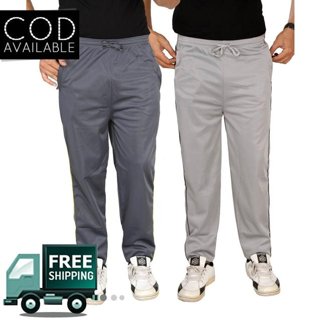 SLS Pack Of 2 Polyester Cotton Men's Track Pants