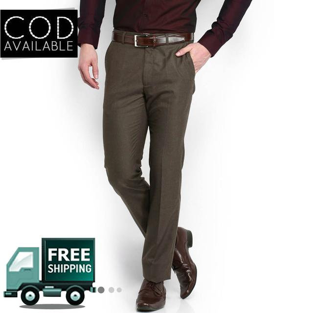 Style Men's Light Brown Formal Trouser