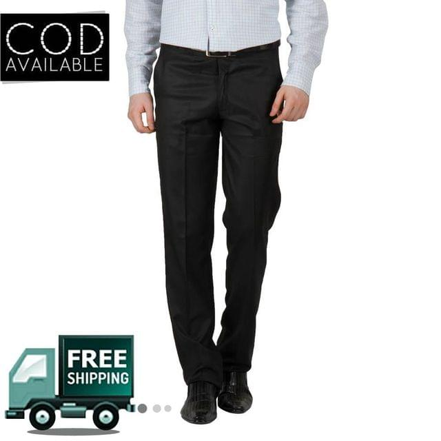 Style Men's Black Formal Trouser