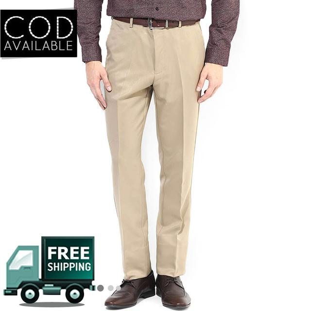 Style Beige Men's Formal Trouser