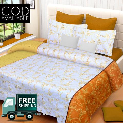 Zain Pure Cotton Double Bedsheet With 2 Pillow Covers