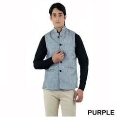 American-Elm Men's Casual Nehru Jacket