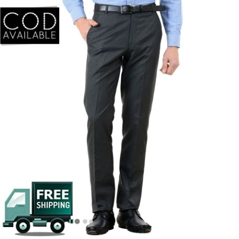 American-Elm Men's Basic Cotton Formal Trouser