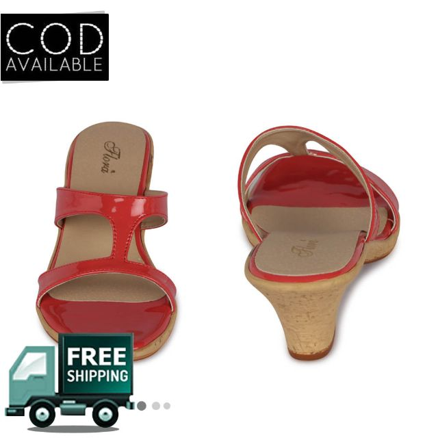 Flora Women's Coral Wedges