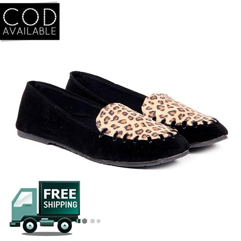 Ten Women's Black Suede Loafers