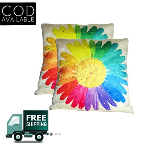 Rotomax Set of 2 Pcs Velvet Cushion Cover of 12 x 12 Inches