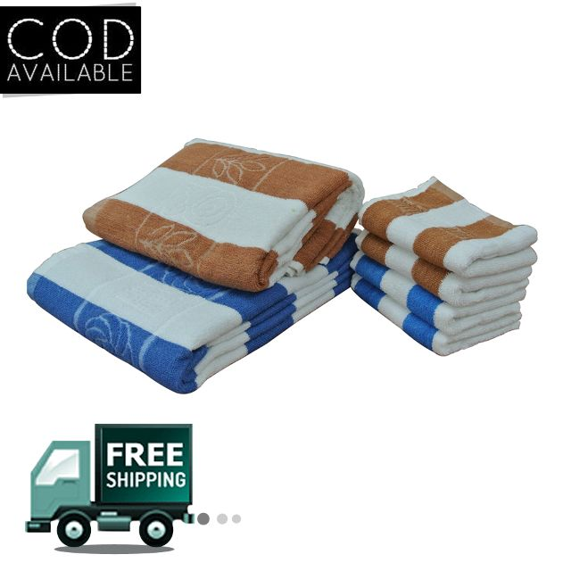 Fashiza JJ Cotton Bath/Face Towel Set
