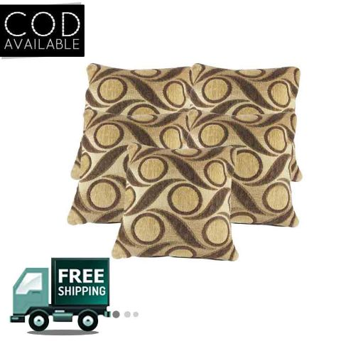 Rotomax Set of 5 Pcs Shaneel Cushion Cover of 16 x 16 Inches