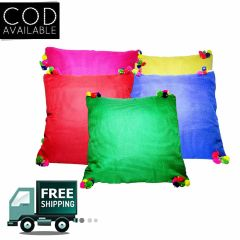 Rotomax Set of 5 Pcs Silk Cushion Cover of 12 x 12 Inches