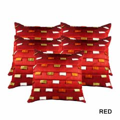 Rotomax Set of 5 Pcs Silk Cushion Cover of 16 x 16 Inches