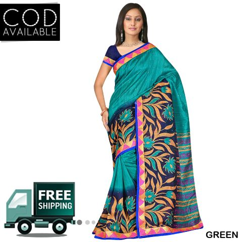 Swaraaa Art Silk Saree With Blouse Piece