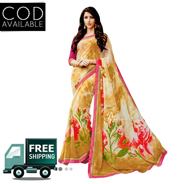 Swaraaa Georgette Printed Saree