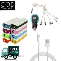 Combo Of Powerbank, Data Cable & Car Charger