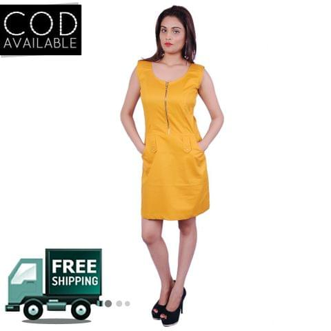 Adam N' Eve Golden Zipper Dress