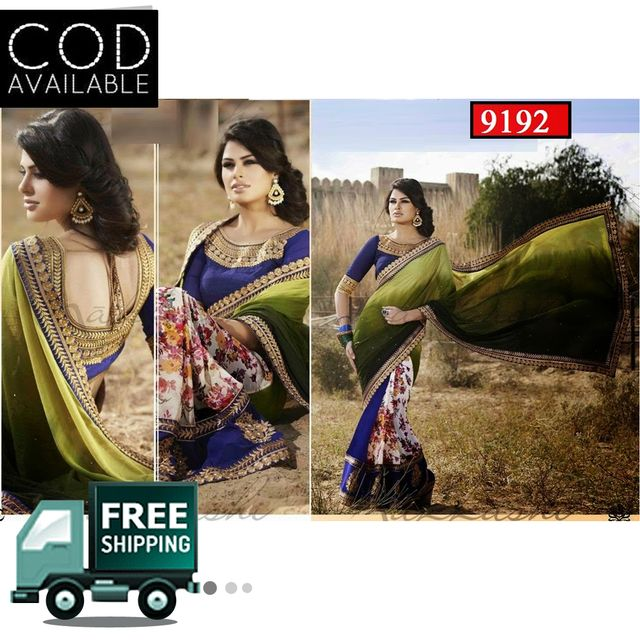 Bollywood Style Multicolor Georgette Saree By Vamika