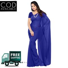 Vamika Blue Faux Georgette Saree