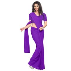 Vamika Purple Faux Georgette Saree