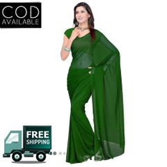 Vamika Green Faux Georgette Saree