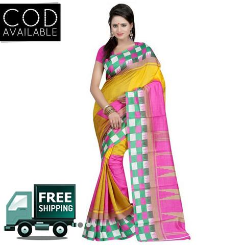Vamika Multicolor Bhagalpuri Silk Saree