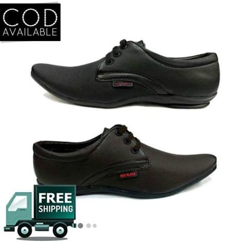 Hazart Black Formal Shoes For Men