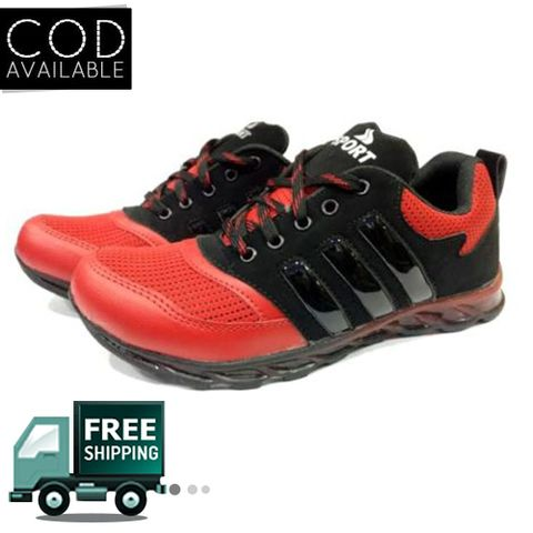 Hazart Stylish Black & Red Sports/Casual Shoes For Men