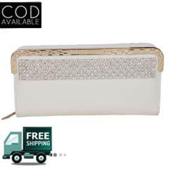 Fashion Shoppe Stylish White Wallet For Women
