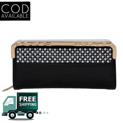 Fashion Shoppe Stylish Black Wallet For Women