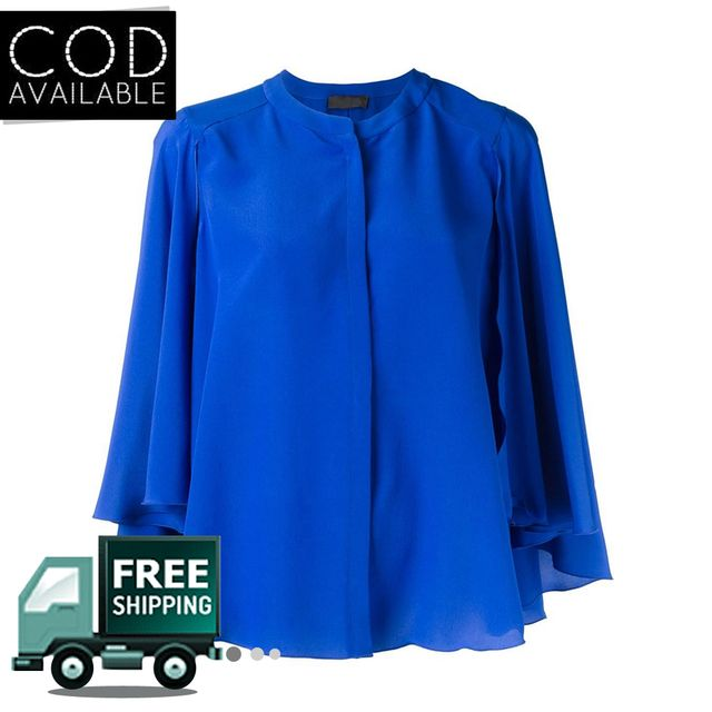 SunDish Bell Sleeves Blue Shirt