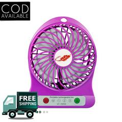 Novel Portable Mini Usb Fan Rechargeable Battery Operated With 3 Speed