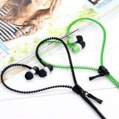 Novel Zipper Ear Phone With Mic(Assorted Color)