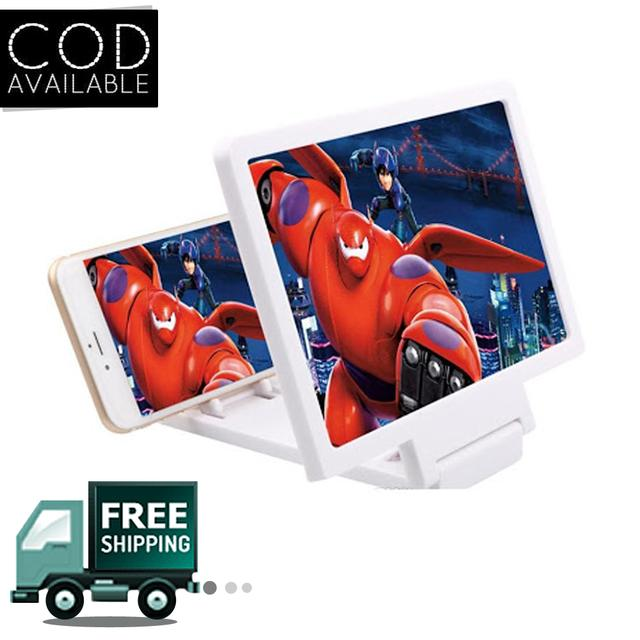 Novel 3D Enlarged Screen Glass Magnifier Folding Portable Bracket For Mobile Phones