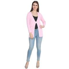 Lee Marc Women's Regular Fit Full Sleeve Cardigan