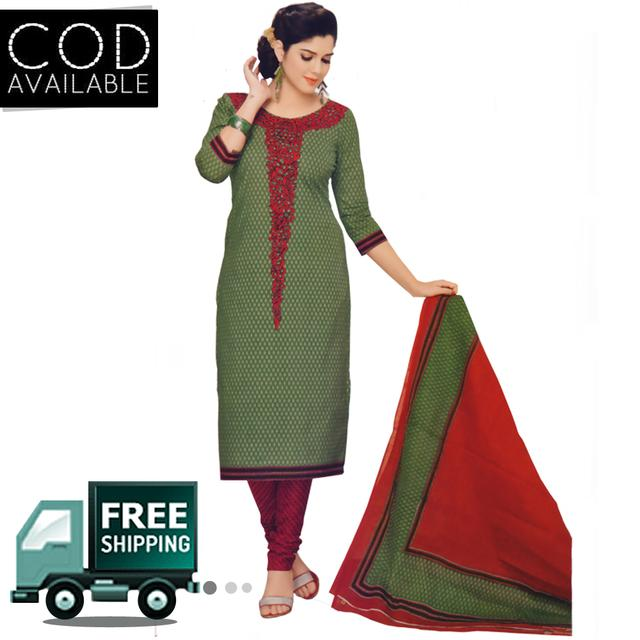 Vishnu Pure Cotton Unstitched Salwar Suit
