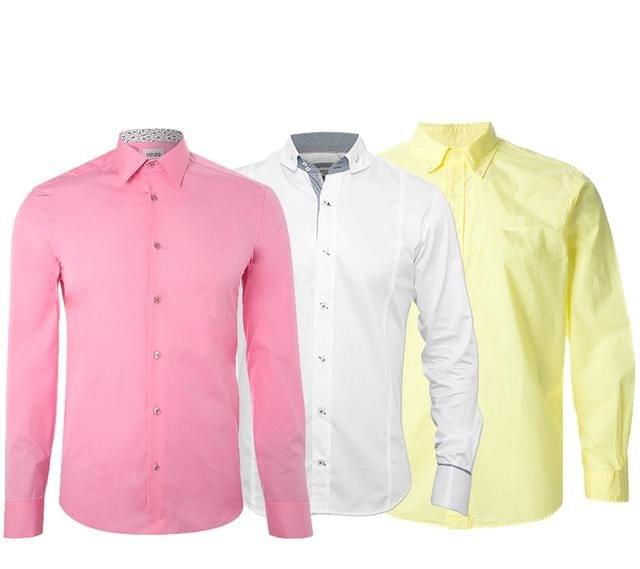 Branded Combo of 3 Slim-fit Party wear Premium Pure Linen Shirts