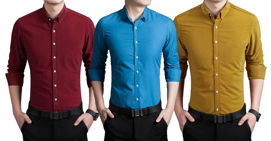 London Looks Mens Combo of 3 stylish PURE LINEN Shirts