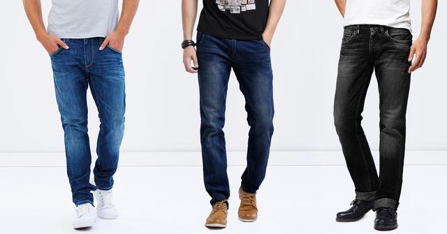 London Looks 3 Washed Mid Rise Slim Fit Jeans