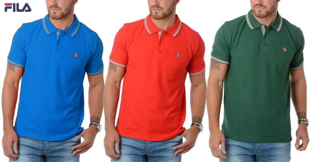 Branded FILA Men's Polo T-shirts (Pack Of 3)